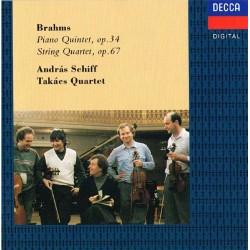 Brahms - Piano Quintet Op. 34, String Quartet, Op. 67: András Schiff, Takács Quartet
