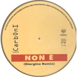 "Luca Carboni - Non É (Giorgino Remix) (ITA 1996 Flying Records Italia FIT 048) 12"", 45 giri, Picture Disc, Single Sided"
