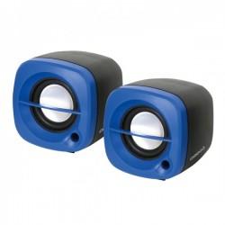 COPPIA MINI CASSE USB 2.0, colore Blu