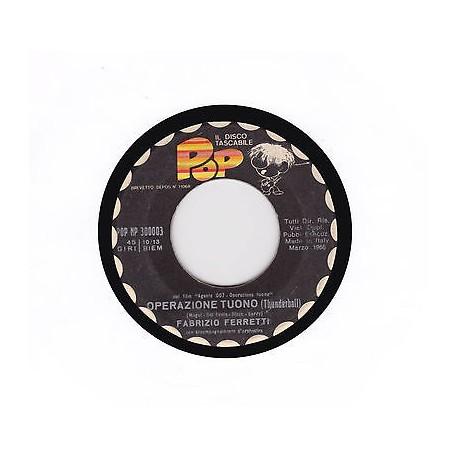 """Disco tascabile POP 1966 Operazione tuono (Thunderball) / Zorba il greco 45 giri 7"""""""