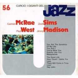 I Giganti Del Jazz Vol.56 LP - Carmen McRae, Zoot Sims, Paul West, Jimmy Madison (Curcio GJ-56)