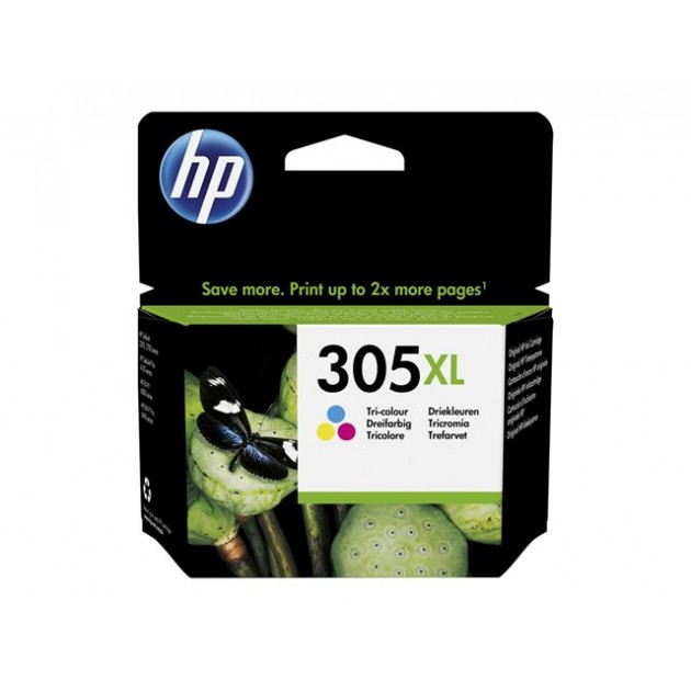 CARTUCCIA ORIGINALE HP 305 XL COLORE 5 ml. per Deskjet 23XX, 27XX- DeskJet Plus 41XX- Envy 60XX- ENVY Pro 64XX