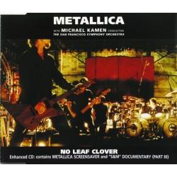 Metallica With Michael Kamen Conducting The San Francisco Symphony Orchestra - No Leaf Clover (EU 2000 Vertigo 562 698-2) CD, S