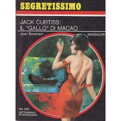 Collana Segretissimo Mondadori, nr.204 -Jack Curtiss: Il gallo di macao- 1967