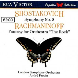 Shostakovich - Symphony No. 5  / Rachmaninoff - Fantasy For Orchestra 'The Rock': The London Symphony Orchestra, André Previn
