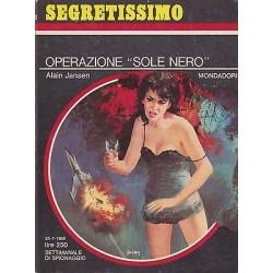 Collana Segretissimo Mondadori, nr.243 - Operazione Sole Nero - 1968
