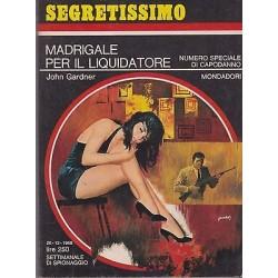 Collana Segretissimo Mondadori, nr.265 - Madrigale per il liquidatore - 1968