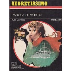 Collana Segretissimo Mondadori, nr.548 - Parola di morto - 1974