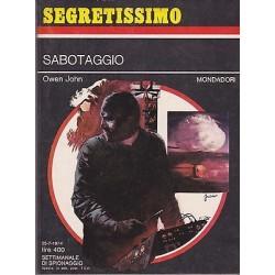 Collana Segretissimo Mondadori, nr.556 - Sabotaggio - 1974