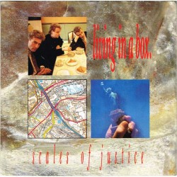 """Living In A Box: Scales Of Justice  / Ecstasy (ITA 1987) 7"""" 45 giri"""