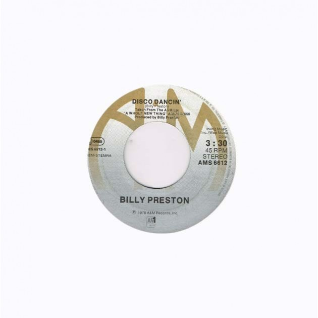 "Billy Preston: Disco Dancin' / Wide Stride (HOL 1978) 7"" 45 giri"