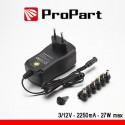 Alimentatore Switching Multitensione 3-12V 2000mA 24W max
