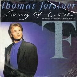 """Thomas Forstner / Countdown G.T.O. - Song Of Love (GER 1989) 7"""" 45 giri"""