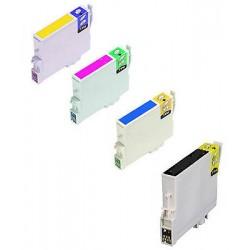 CARTUCCE COMPATIBILI EPSON SERIE T0550 (Paperella) C13T05564020 kit 4 colori