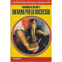 Capolavori Giallo Mondadori, nr.311 - Un'arma per la duchessa, Thomas Dewey 1966