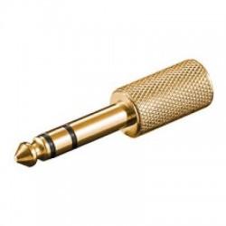 Adattatore Audio Stereo Jack 6,3mm Maschio - Jack 3,5mm Femmina metallo dorato