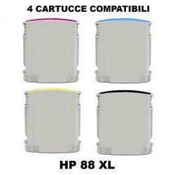 CARTUCCE COMPATIBILI HP 88 XL KIT 4 COLORI