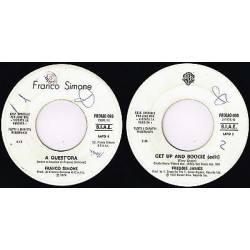 "FRANCO SIMONE - A quest'ora / FREDDIE JAMES - Get up and boogie (1979) 45 giri 7"" juke box"