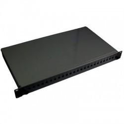 Cassetto fibra ottica fisso 19'' predisposto per 12 bussole ST o FC