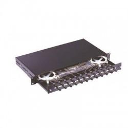 Cassetto fibra ottica estraibile 19'' predisposto per 12 bussole ST o FC