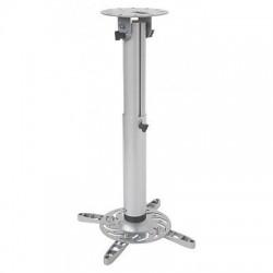 Supporto da soffitto professionale per proiettori, estensibile da 50 a 77 cm. silver