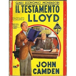 Giallo Mondadori, nr.129 - Il testamento Lloyd, John Camden - 1938