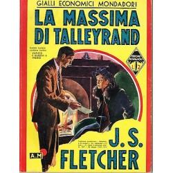 Giallo Mondadori, nr.137 - La massima di Talleyrand, J.S. Fletcher - 1939