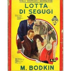 Giallo Mondadori, nr. 97 - Lotta di segugi, M. Bodkin - 1937