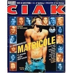 Rivista Ciak anno 2001 nr.  7 - In copertina Brad Pitt - Matricole a Holliwood