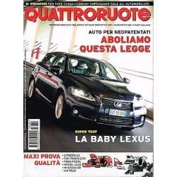 Quattroruote 666-2011 Mercedes C220-Lexus CT-Tesla Roadster-Peugeot 508