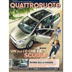 Quattroruote 685-2012 Ford B Max-Mercedes CLS-Hyundai i20-Audi Q3-Bmw X1