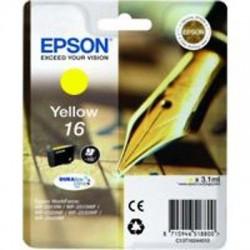 CARTUCCIA ORIGINALE EPSON T1624 GIALLO 16 (PENNA/CRUCIVERBA) C13T16244010
