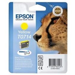 CARTUCCIA ORIGINALE EPSON T0714 GIALLO Ghepardo       C13T07144021