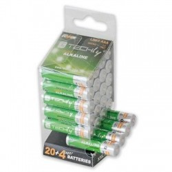 Multipack 24 batterie Alkaline Mini Stilo High Power AAA 1,5V LR03