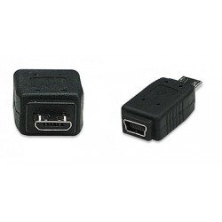 Adattatore Mini USB Femmina a Micro USB Maschio