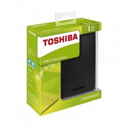 Hard Disk Esterno  TOSHIBA USB 3.0 1TB 2.5'' CANVIO BASIC  - Retail - NERO