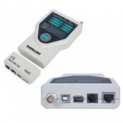 Tester 5 in 1 per cavi Rete CAT 5/6 e ISDN, USB A/B e IEEE1394 Firewire 6pin
