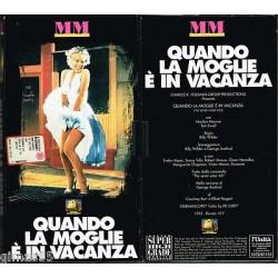 VIDEOCASSETTA VHS QUANDO LA MOGLIE E' IN VACANZA, Marilyn Monroe, Tom Ewell