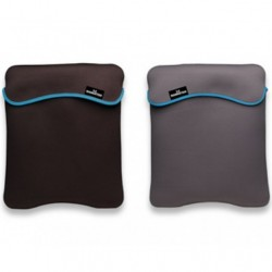 "CUSTODIA SLEEVE PER NETBOOK TABLET IPAD 7""- 9.7"" SECOND SKIN REVERSIBILE DOUBLE FACE NERO/GRIGIO"