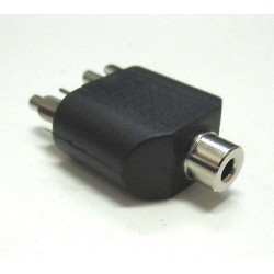 Adattatore Audio Stereo Jack 3.5 mm Femmina- 2 RCA Maschio