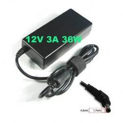 Alimentatore caricabatteria x NETBOOK ASUS EEEPc 12V 3,0 A 36W 4.8x1.7mm