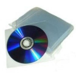 Bustine trasparenti per CD/DVD con lembo di chiusura confezione da  200