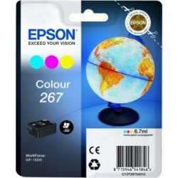 CARTUCCIA ORIGINALE  EPSON T267 3 COLORI C13T26704010 x WorkForce WF-100W