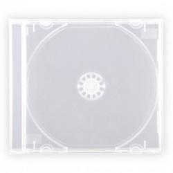 CUSTODIA PER CD DVD JEWEL BOX CASE TRASPARENTI CONFEZIONE 10 PEZZI