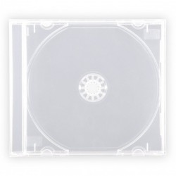 CUSTODIA PER CD DVD JEWEL BOX CASE TRASPARENTI CONFEZIONE 100 PEZZI