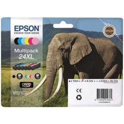 MULTIPACK ORIGINALE EPSON 24 XL(ELEFANTE) 6 COLORI C13T24384010