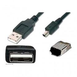 CAVO USB  A-B Mini (4p) Mitsumi M/M 1,0mt.