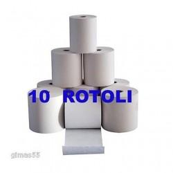 CONFEZIONE 10 ROTOLI CARTA x REGISTRATORE DI CASSA, POS, 57x35 Omologata