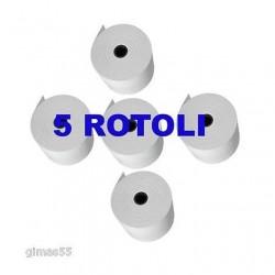 CONFEZIONE DA  5 ROTOLI CARTA TERMICA Omologata 80x80 multiuso