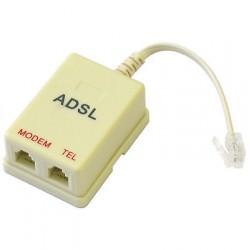 FILTRO ADSL ADATTATORE TELEFONICO CON SPLITTER RJ-11 -  2 USCITE